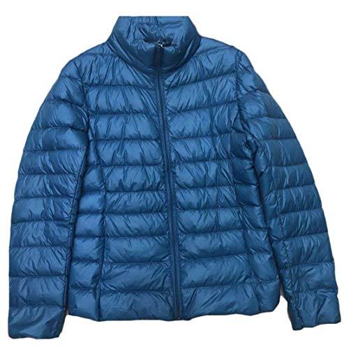 Coat Light Women's Packable Ultra EKU Down Jacket Solid Weight 7 Zipper XBqSE