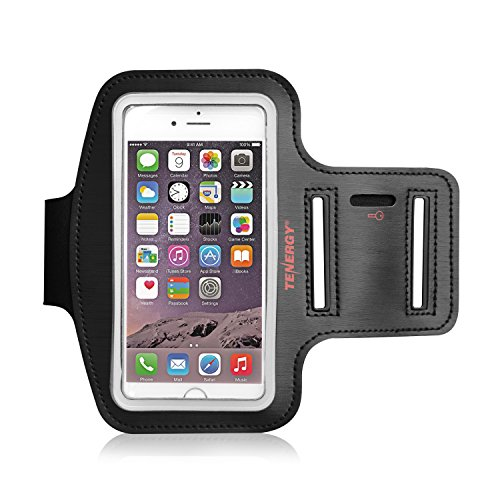 Tenergy 4.7 Inch Cell Phone Armband for iPhone 8, 7, 6S, 6, Samsung Galaxy S8, S7, S6, Multi-slot Adjustable Velcro Water Resistant Sports Armband for Running, Gym, Workouts, Bonus Screen Protector