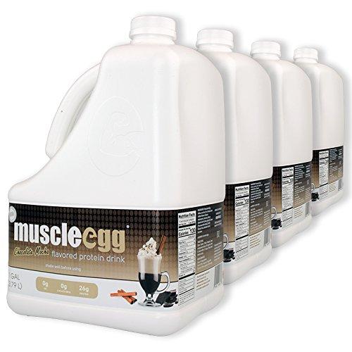 MuscleEgg Chocolate Mocha Liquid Egg Whites Protein - 4 Gallons