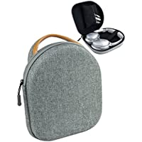 Headphone Carrying Case for BeoPlay H2, H6, H8; Harman Kardon CL Precision, Parrot Zik, Bose QC35, QC25, QC3, QC2, QC15, AE2w, AE2i, AE2, SoundTrue, Accessories Pouch (Grey)