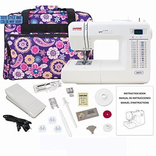 Janome 8077 Computerized Sewing Machine Includes Exclusive Bonus Bundle by Janome