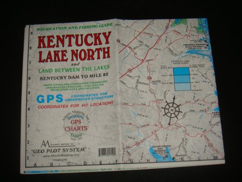 Kentucky Lake North Enlarged Version Geographic Map GPS Charts and Above Water and Underwater Topography