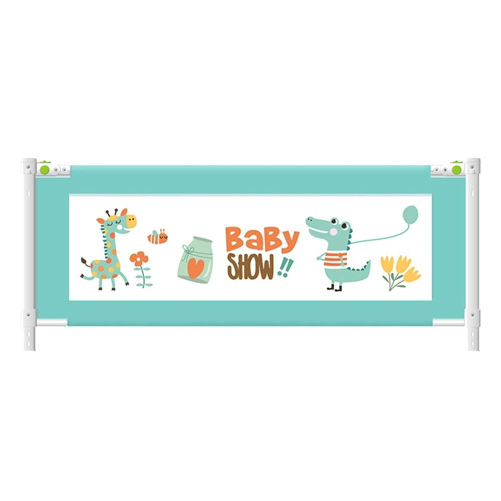 XIAOMEI,ベッドフェンス ベッドフェンス赤ちゃん粉々になりにくい保護ベビー手すりバッフル子供ベッドガードレールブルー-120-220 cm (サイズ さいず : 200cm) 200cm  B07P5856PG
