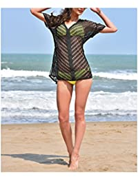 Cotton Lace V-Neck Beach Swimsuit Cover Up Top