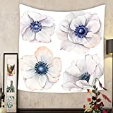 Jacquelyn A. Velasquez Custom tapestry handpainted watercolor flowers set in vintage style it s perfect for greeting cards wedding
