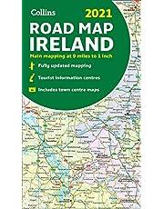 Map of Ireland 2021: Folded road map