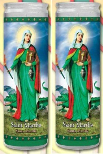 Set of 2 St Martha Prayer Candles 2 Veladoras De Santa Marta