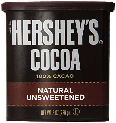 Hershey's Cocoa, Unsweetened, 8-Ounce Container (Pack of 2)