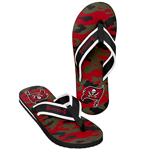 Tampa Bay Buccaneers Mens Contour Flip Flop - Camouflage Extra Large by FOCO