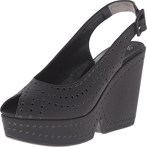 Robert Clergerie Women's Distar Black Rubber Sandal 39.5 (US Women's 9) M