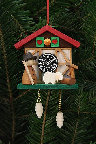 Tree ornaments Tree Ornaments Cuckoo Clock Shepherd - 7,0x6,7cm / 3x3 inch - Christian Ulbricht