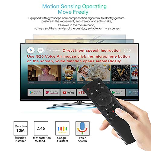 WeChip G20 Remote Control 2.4G Wireless Voice Control Sensing Air Remote Mouse for PC Android TV Box