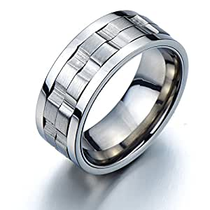 Refined Style Stainless Steel Spinner Unisex Ring Man Ring Comfort Fit 9mm (7a)