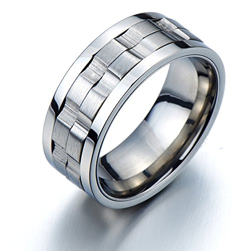Refined Style Stainless Steel Spinner Unisex Ring Man Ring Comfort Fit 9mm(9a)