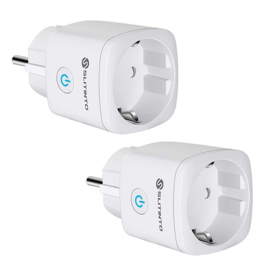 Presa Intelligente Wifi Compatibile con Alexa Echo, Google Home e IFTTT, SLITINTO