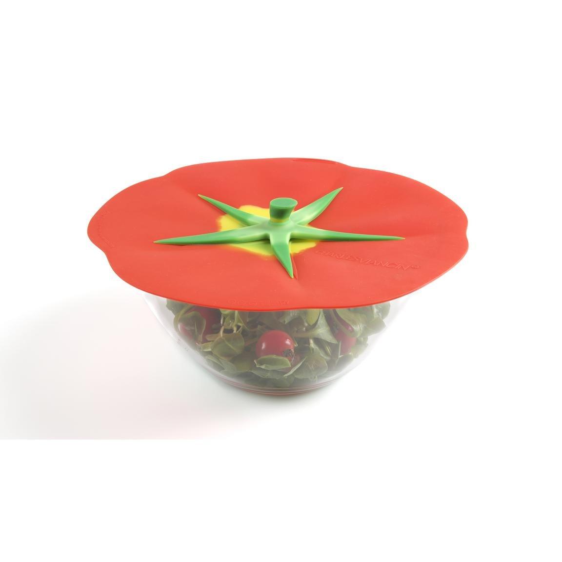 VIANCIN - 9609eu - Tapa Hermetique silicona Decor Tomate 15 cm ...