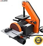 COLIBROX-- 1'' X 30'' Belt 5'' Disc Sander 1/3HP Polish Grinder Sanding Machine Table Polisher Belt Sander with 5'' Sanding Disc