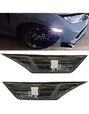 2pcs JDM Smoke Lens Led Side Marker Light for 2016-up Honda Civic Sedan/Coupe/Hatchback Replace OEM Halogen Sidemarker Lamps White Led Light Bulbs OEM#H02551127N