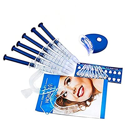 PLYSIN Teeth Whitening Kit LED Light Teeth Whitener Teeth Whitening Accelerator Kit, Gel Syringes, Tray and Case