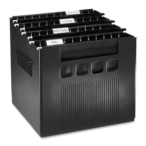 File Cube (Pendaflex Super DecoFlex Desktop File, 1 Each, Letter, Black)