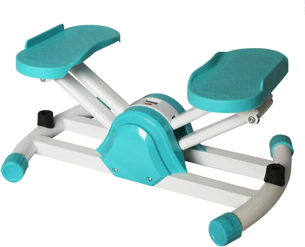 TOPYL Fitness Stair Stepper,Cardio Indoor Stepper for Full-Body Workout,Portable Home V-Type Sport Mode Climbing Exercise Machine Blue-Green 54x36x25cm(21x14x10inch)