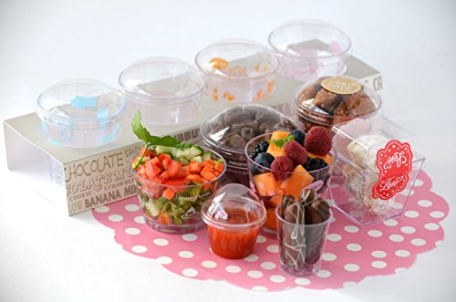 Dessert Cup with Lid Trifle Cup Mousse Cup Salad Container Take Out Party Favor Orange Puppy