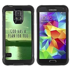 LASTONE PHONE CASE / Suave Silicona Caso Carcasa de Caucho Funda para Samsung Galaxy S5 SM-G900 / BIBLE God Has A Plan For You