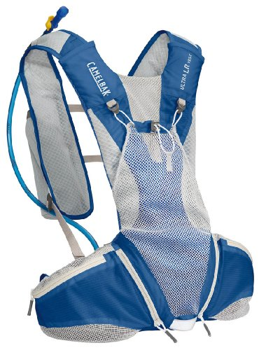 Camelbak Ultra LR Vest Hydration Pack (70-Ounce/200 Cubic-Inch, Skydiver Blue/Egret White), Outdoor Stuffs