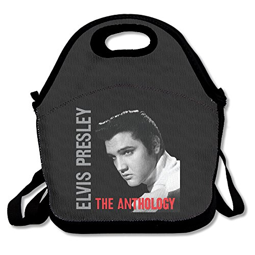 KICXA Toxic Bear Elvis Presley Lunch Box Bag For Kids Adult Men Women Girl Boy,lunch Tote Lunch Holder With Adjustable Strap,double ()