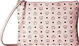 MCM Women's Visetos Medium Pouch, Soft Pink, One Size