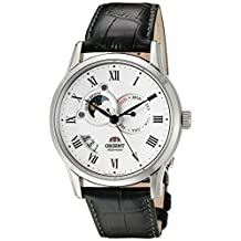 """Orient Classic """"Sun and Moon"""" Automatic White Dial Men's Watch (Model:FET0T002S0)"""