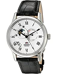 Orient Classic Sun and Moon Automatic White Dial Mens Watch (Model:FET0T002S0)