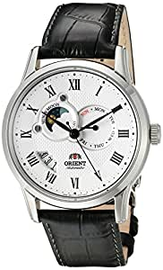 "Orient Classic ""Sun and Moon"" Automatic White Dial Men's Watch (Model:FET0T002S0)"