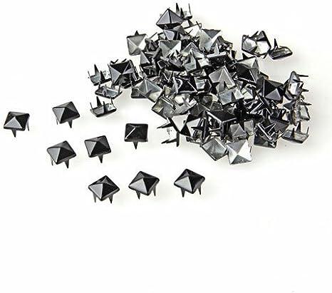 Gleader 100X Apliques Remaches Plata 8mm Piramide Tachuelas Bolsa//Calzado//Guante