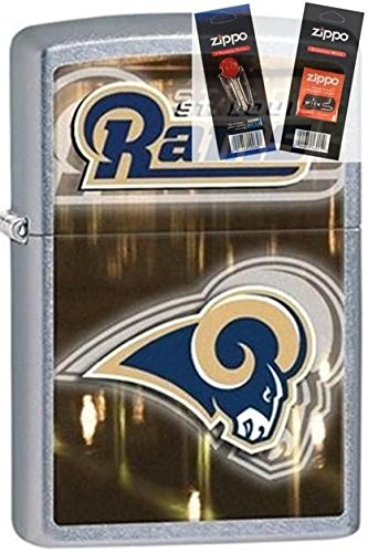 Zippo 28606 St Louis Rams Nfl Lighter Withflint & Wick Gift Set (Rams Starter Louis)