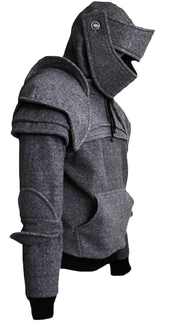 Sweatwater Mens Performance Stretch Mask Pocket Drawstring Popular Irregular Hooded Sweatshirts