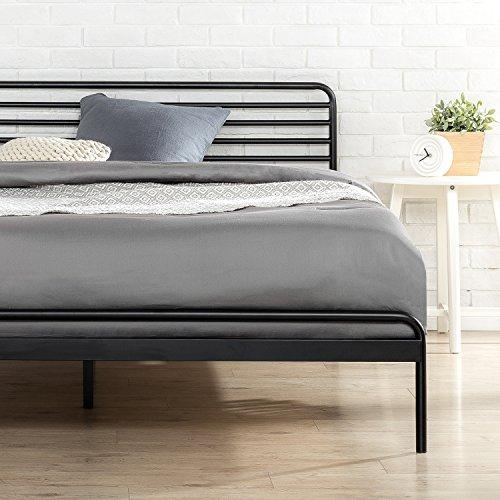 Zinus Tom Metal Platform Bed Frame / Mattress Foundation / No Box Spring Needed / Wood Slat Support / Design Award Winner, King