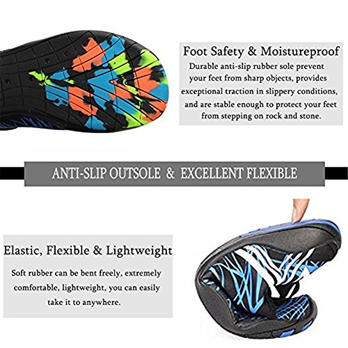 Men Quick Surf Dry Aqua Pool Diving Water for Men Women Water Socks Aqua Shoe Shoes THEONES Shoes Breathable Blackwhite Socks Water Beach xvSqPY