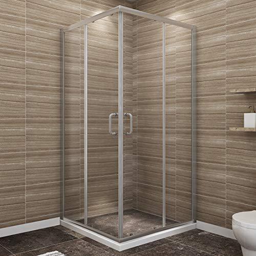 (SUNNY SHOWER Corner Shower Enclosure 1/4