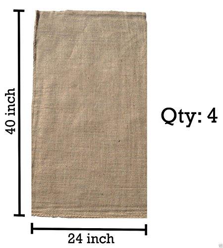 Set of 4 Burlap Sacks 24x40--Burlap Bags, Potato Sack Race Bags, Gunny Sack  Top Selling Item