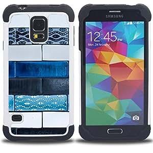 For Samsung Galaxy S5 I9600 G9009 G9008V - art paint street hand made Dual Layer caso de Shell HUELGA Impacto pata de cabra con im??genes gr??ficas Steam - Funny Shop -