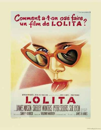 Lolita Movie Poster (Lolita Vintage French Movie Poster Reproduction)