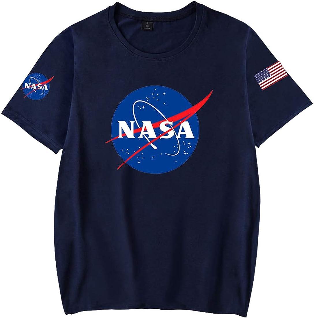 EMILYLE Niñas Casual Top NASA Galaxia Camiseta con Bandera Tshirt Verano Deportiva: Amazon.es: Ropa y accesorios