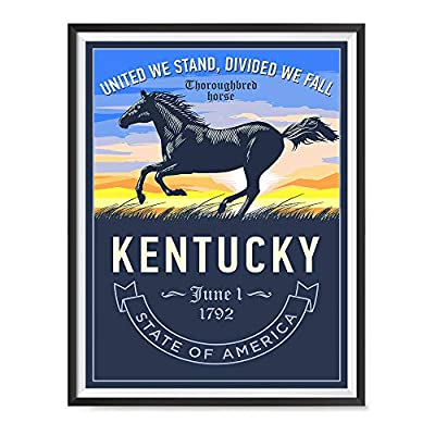 EzPosterPrints - Retro Style USA State Icons Posters - Poster Printing - Wall Art Print for Home Office Décor