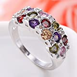 Women Fashion 925 Silver Round Cut Ruby Ring Bridal Engagement Jewelry New (6)