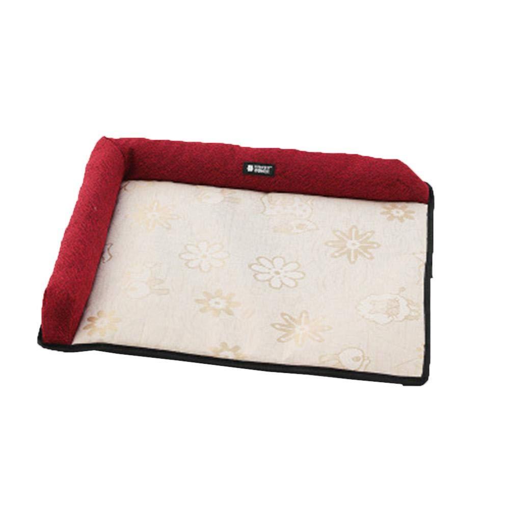 remote.S Pet Viscose Pad Summer Cooling Mat Pet Heat Pad El/éctrico Anti-mordida Calefactable Estera del Animal dom/éstico para Perro Gato