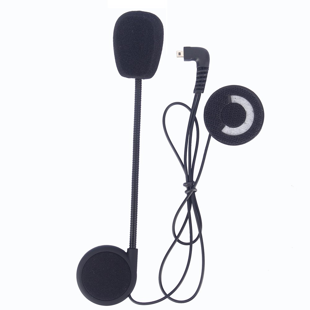 Motorcycle Helmet Speakers,FreedConn T-COMVB Series Headset and Clip Kits for Motorcycle Communication System(Sturdy and Durable/Black) by FreedConn (Image #4)