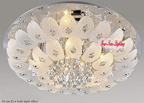 FidgetGear Modern K9 Crystal Chandelier Pendant Ceiling Lighting Living Room Pendant Lamp D50CM/19.7'' by FidgetGear (Image #3)