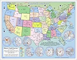 2000 CodeTracker Area Code Map area codes of US Canada and parts