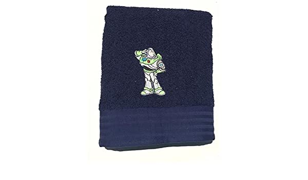 Amazon.com: Toy Story~ Buzz Lightyear~ Blue Embroidered Bath Towel 28